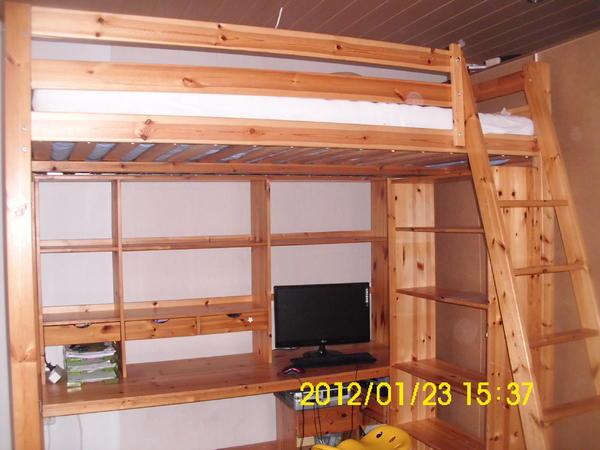 Ikea Utrusta Fernbedienung Einstellen ~ IKEA+Vradal IKEA Hochbett Vradal 90 cmX200 cm 175 cm hoch D sseldorf